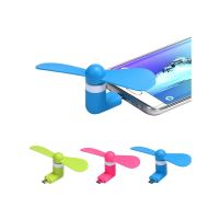 Micro USB ventilátor kompatibilní s Android, modrý
