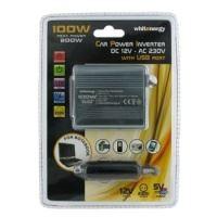 Napěťový měnič DC/AC 12V/230V 100W, USB