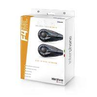 Bluetooth handsfree pro uzavřené a otevřené přilby CellularLine Interphone F4MC Twin Pack