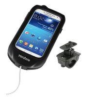 Voděodolné pouzdro Interphone pro Samsung Galaxy S4, úchyt na řídítka, černé