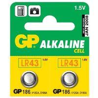 GP 186, knoflíková alkalická baterie kompatibilní s AG12, LR43