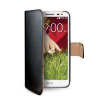 Pouzdro typu kniha CELLY Wally pro LG G2 Mini, PU kůže, černé