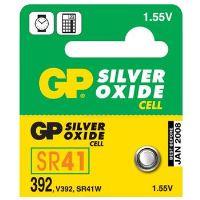 GP 392, knoflíková baterie na bázi oxidu stříbra kompatibilní s SR41