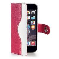 Pouzdro typu kniha CELLY Onda pro Apple iPhone 6/6S, eco kůže, růžové