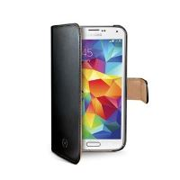 Pouzdro typu kniha CELLY Wally pro Samsung Galaxy S5 mini, PU kůže, černé