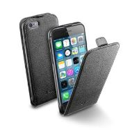 Pouzdro CellularLine Flap Essential pro Apple iPhone 6/6S, černé