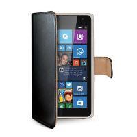 Pouzdro typu kniha CELLY Wally pro Microsoft Lumia 535, PU kůže, černé (Nokia)