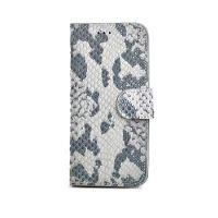 Pouzdro typu kniha CELLY Snake LUXURY pro Apple iPhone 6/6S, kůže, přírodní