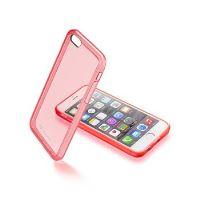 Průhledný zadní kryt CellularLine Color  pro Apple iPhone 6/6S, růžový