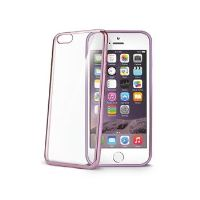 TPU pouzdro CELLY Laser - lemování s kovovým efektem pro Apple iPhone 6 Plus / 6S Plus, fuchsiové