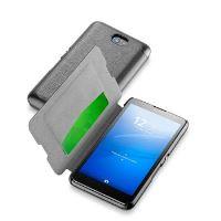 Pouzdro typu kniha CellularLine Book Essential pro Sony Xperia E4, černé