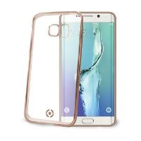 TPU pouzdro CELLY Laser - lemování s kovovým efektem pro Samsung Galaxy S6 Edge, zlaté