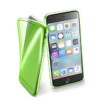 Barevné gelové pouzdro Cellularline FLUO pro Apple iPhone 6/6S, zelené