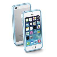 Ochranný rámeček CellularLine BUMPER pro Apple iPhone 5/5S/SE, včetně fólie na přední a zadní stranu, modrý