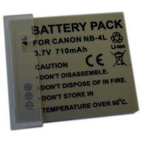 Baterie Extreme Energy typ Canon NB-4L, Li-Ion 750 mAh, šedá