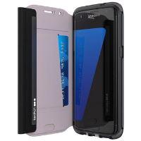 Pouzdro typu kniha Tech21 Evo Wallet pro Samsung Galaxy S7 Edge, černé
