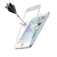 Ochranné tvrzené sklo pro celý displej CellularLine CAPSULE pro Apple iPhone 6 Plus, bílé