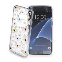 Průhledné gelové pouzdro Cellularline STYLE pro Samsung Galaxy S7 EDGE, motiv FLY