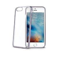 TPU pouzdro CELLY Laser - lemování s kovovým efektem pro iPhone 7 Plus, černé
