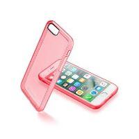 Průhledný zadní kryt CellularLine Color  pro Apple iPhone 7, růžový
