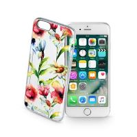 Průhledné gelové pouzdro Cellularline STYLE pro iPhone 7, motiv FLOWER