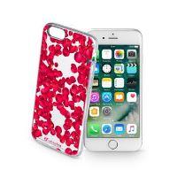 Průhledné gelové pouzdro Cellularline STYLE pro iPhone 7, motiv ROSES