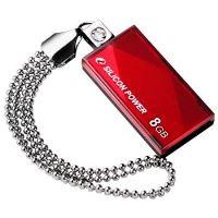 USB flash disk Silicon Power Drive Touch 810, 8GB, USB 2.0, červený