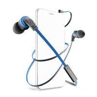 In-ear sluchátka CellularLine Mosquito s mikrofonem, 3,5 mm jack, headset, plochý kabel, černo-modré