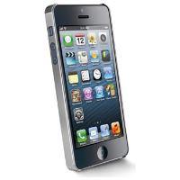 Chromový kryt CellularLine CHROME pro Apple iPhone 5/5S/SE, stříbrný + fólie