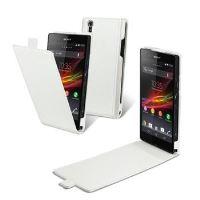 Pouzdro Made for Xperia Flap pro Sony Xperia Z, slim provedení, PU kůže, bílé