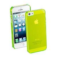 Zadní kryt CellularLine Cool Fluo pro Apple iPhone 5/5S/SE, zelený + fólie