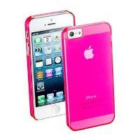 Zadní kryt CellularLine Cool Fluo pro Apple iPhone 5/5S/SE, růžový + fólie