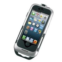Voděodolné pouzdro Interphone pro Apple iPhone 5/5S/SE, úchyt na řídítka, stříbrné