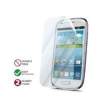Prémiová ochranná fólie displeje CELLY pro Samsung Galaxy S III mini, lesklá, 2ks