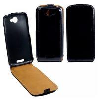 Kožené pouzdro flap OZBO FLIP Premium pro HTC One S, černé