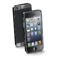 Zadní extratenký ochranný kryt CellularLine Soft Slim pro Apple iPhone 5/5S/SE, černý