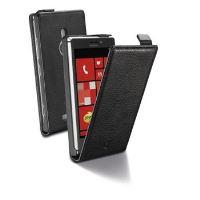 Pouzdro CellularLine Flap Essential pro Nokia Lumia 925, PU kůže, černé