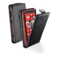 Pouzdro CellularLine Flap Essential pro Nokia Lumia 1520, PU kůže, černé