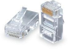 Konektor RJ45 CAT5E UTP 8p8c pro drát 100ks bal.