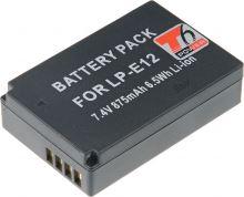 Baterie T6 power Canon LP-E12, 600mAh, černá