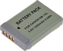 Baterie T6 power Canon NB-13L, 1250mAh, šedá
