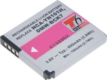 Baterie T6 power Panasonic DMW-BCK7, 800mAh, černá