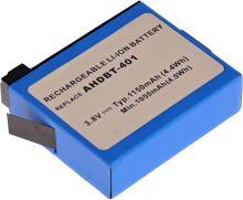Baterie T6 power GoPro AHDBT-401, 1160mAh, černá