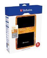 """TRHÁK VERBATIM HDD 2.5"""", 500 GB, USB 3.0, Black (P"""