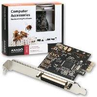 AXAGO PCI-Express adapter 1x paralel port + LP