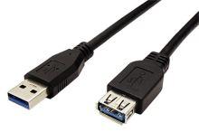 USB 3.0 SuperSpeed kabel prodlužovací, USB3.0 A(M) - USB3.0 A(F), 1,8m