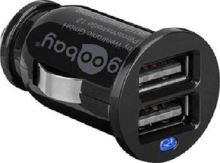 goobay Napájecí 12-24V autoadaptér na 2x USB 2,1A černý