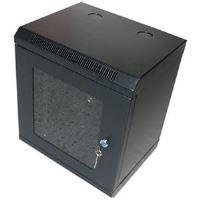 10' OCRACK OCC-10-4U-SBK rozvaděč nástěnný 4U/280mm skleněné dveře Černý
