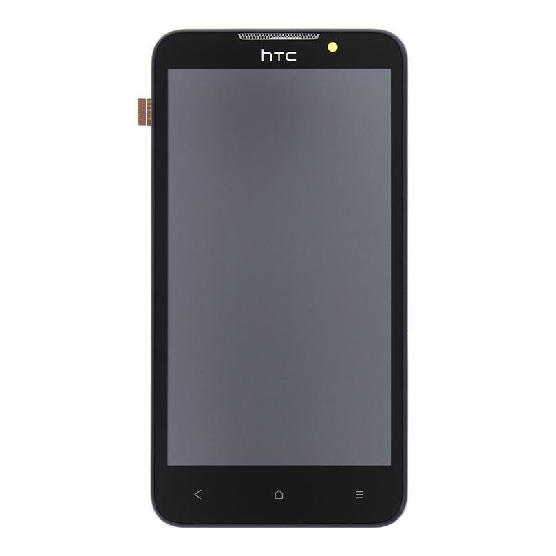 LCD Display + Dotyková Deska + Přední Kryt Grey pro HTC Desire 516