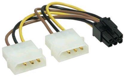 Napájecí redukce 2xMolex-PCI-Ex 6pin, 10cm